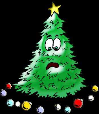Weihnachtsbaum erschüttert.klein